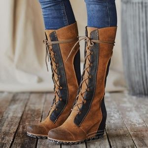 bnib SOREL Cate the Great Wedge Boots sz 9